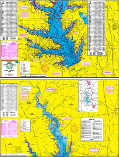 Hook-n-line Freshwater Map: Texas Lake Conroe