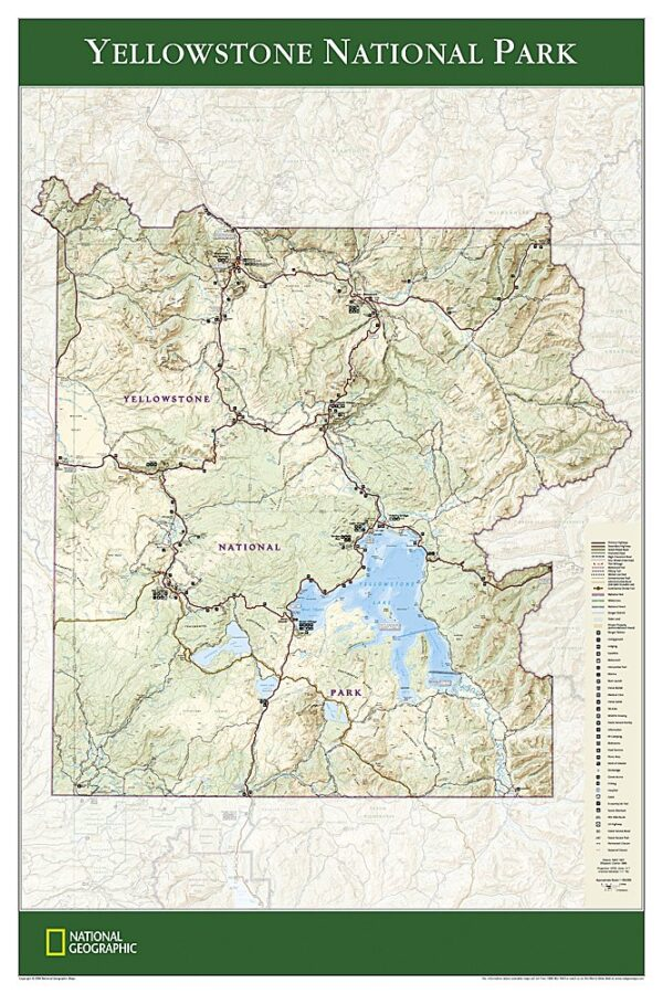 National Geographic Wall Maps: Yellowstone National Park Poster