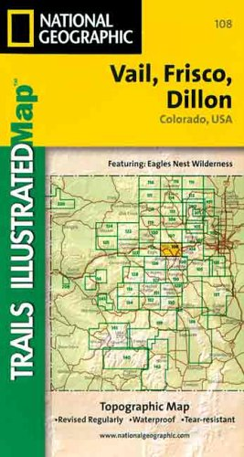 Trails Illustrated Maps: Colorado - Vail/frisco/dillon