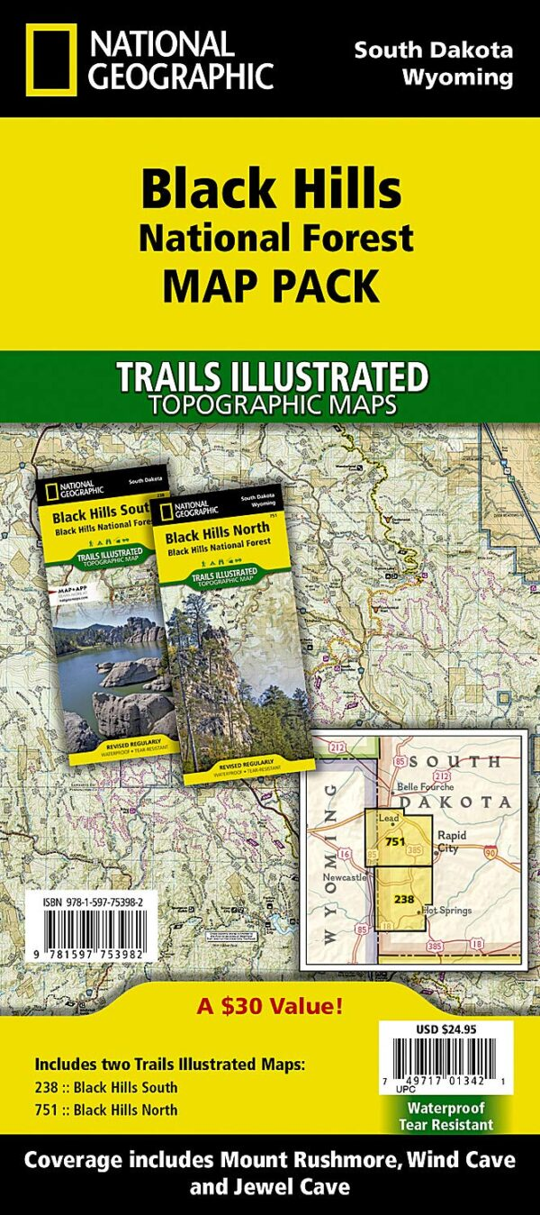 Trails Illustrated Maps: South Dakota - Black Hills National Forest Map Pack Bundle
