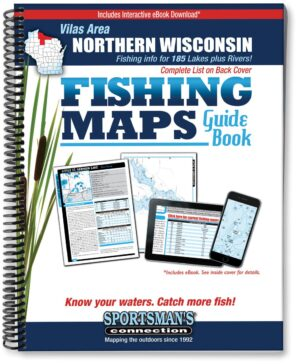 Wisconsin Fishing Map Guide: Northern Wisconsin- Vilas